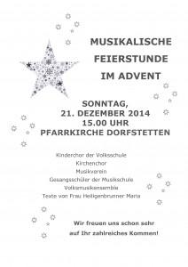 Musikalische Feierstunde im Advent